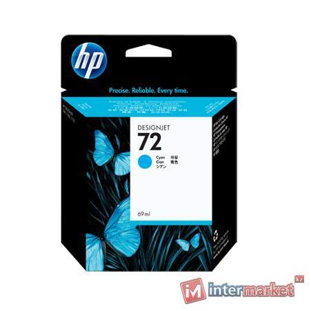 Голубой струйный картридж HP 72 69 мл (C9398A)