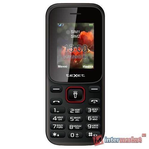 Мобильный телефон teXet ТМ-128 цвет черный-красный /