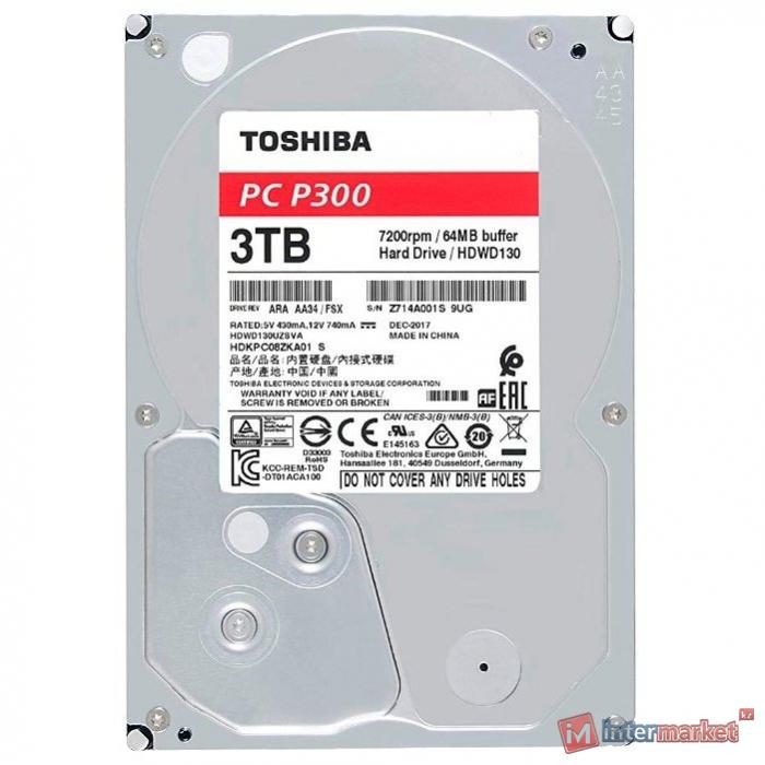 Жёсткий диск HDD 3Tb Toshiba SATA6Gb/s 7200rpm 64Mb 3,5